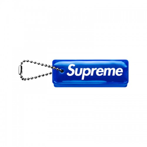 [Supreme] Reflective Puffy Keychain (Blue)