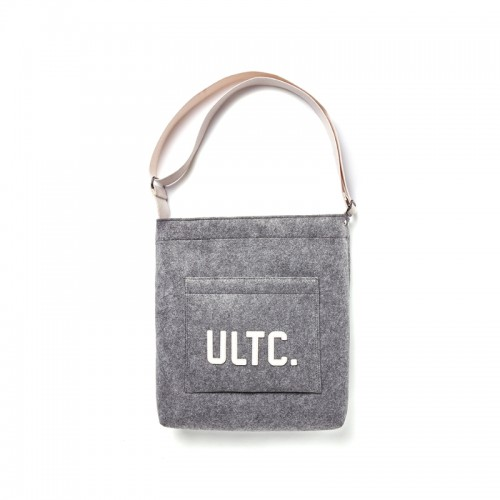 FELT SHOULDER BAG - GRAY [50%]