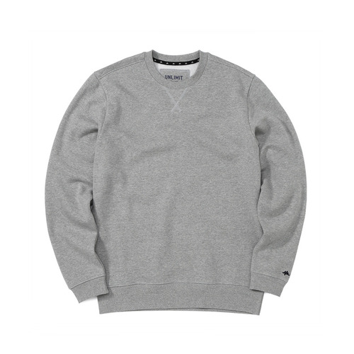 BASE CREW SWEAT(AF-D044) - GRAY