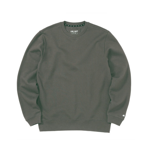 BASE CREW SWEAT(AF-D044) - CHARCOAL