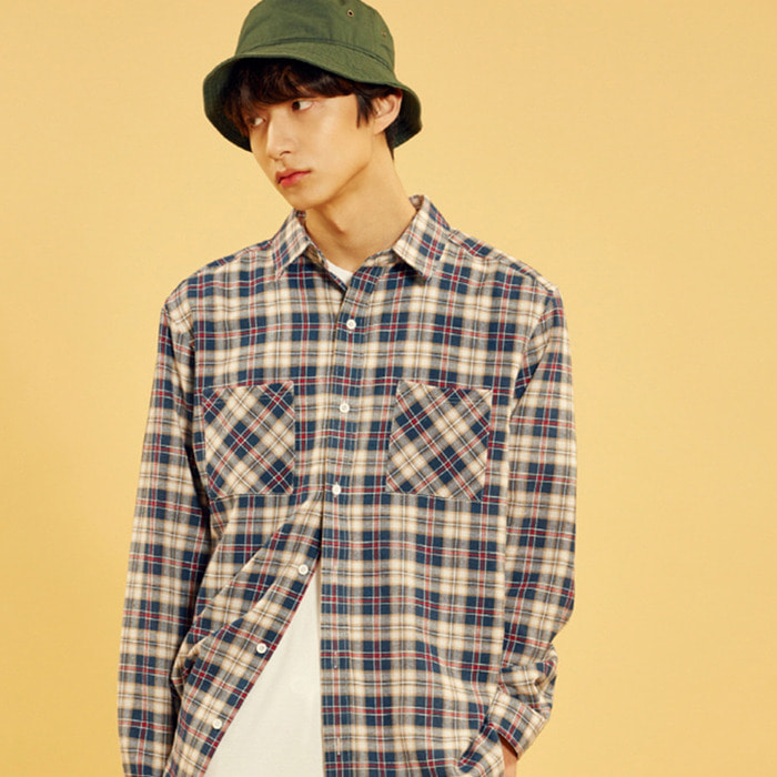 Check Shirts (U18ATSH11)(Navy)