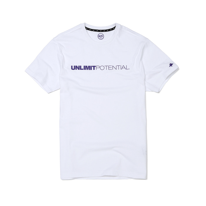 POTENTIAL TEE(U00BTTS00)(White/Purple)