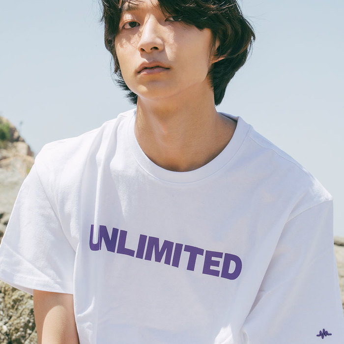 LOGO TEE (U18BTTS15)(White/Purple)