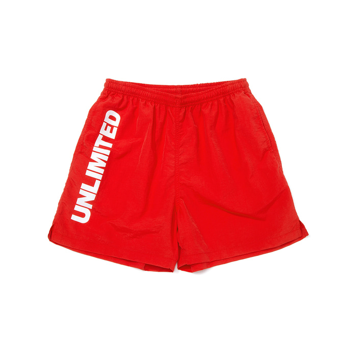 LOGO SHORTS (U18BBPT08)(Red)