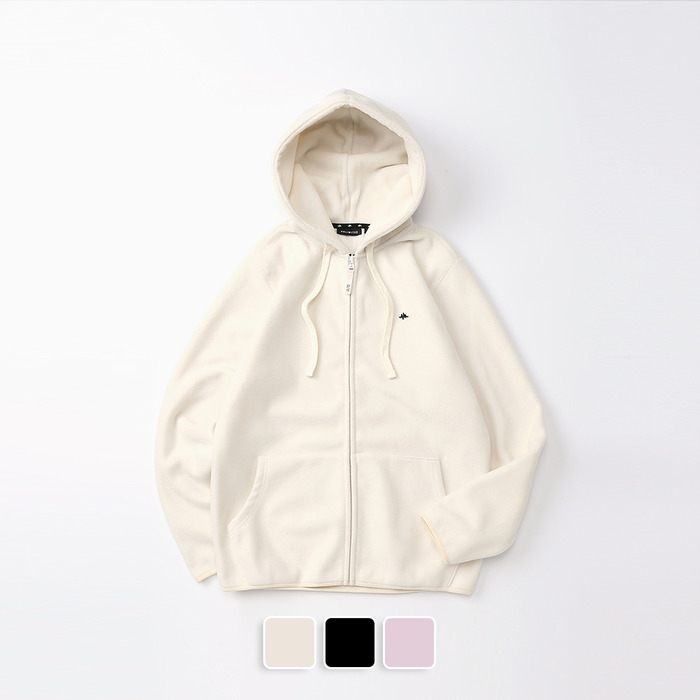 Fleece Hood Zip-Up (U19DTJK42)