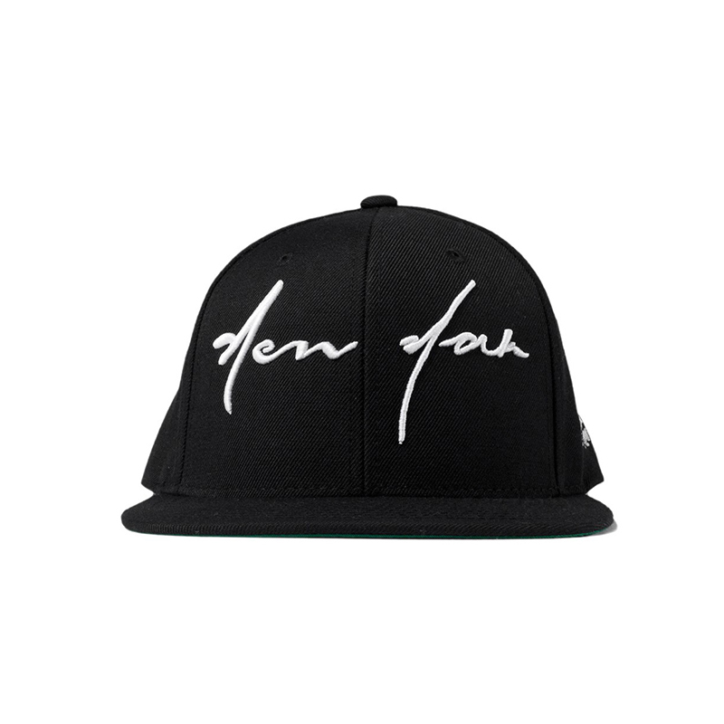 [40oz NYC] New York Script Hat -Black